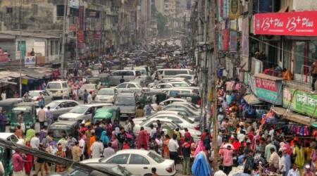 バングラデシュの首都ダッカの交通渋滞