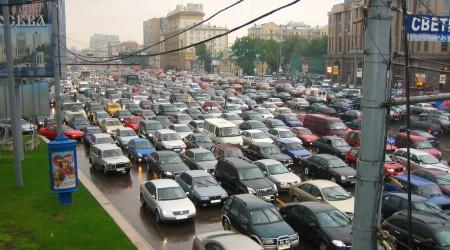 ロシアの首都モスクワのトラフィック