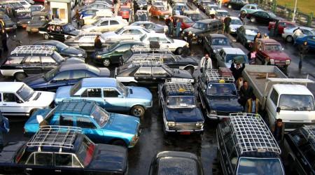 エジプトの首都カイロの交通渋滞