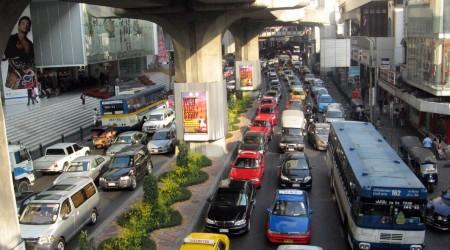 タイの首都バンコクの交通渋滞