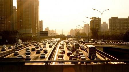 中国の首都北京の道路渋滞事情