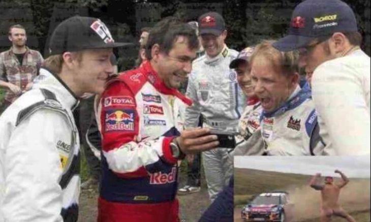 ラリーのレース中にコース脇に現われた全裸男にレース後ドライバーが爆笑