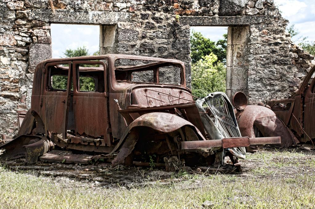 錆びた車-14