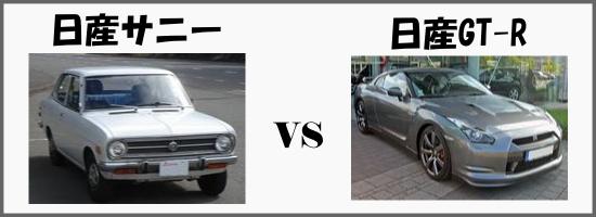 日産サニーVS日産GT-R