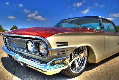60年代製のクールな自動車