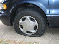 タイヤのパンク