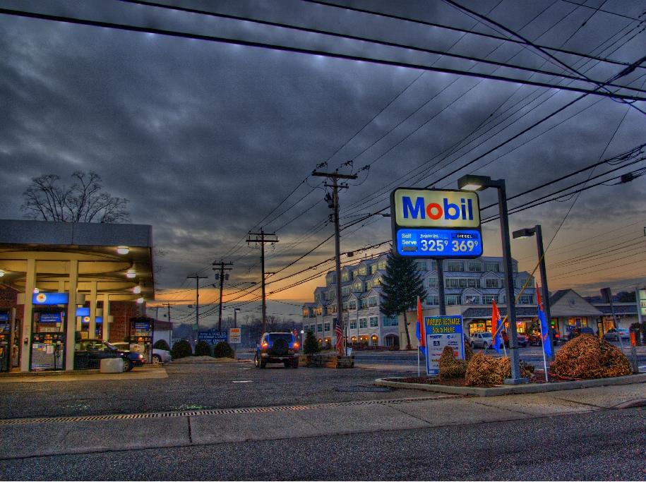 モービルのガソリンスタンド