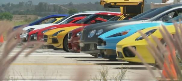 ゼロヨン最速決定戦!日産GT-Rが海外スーパースポーツカーたちを圧倒(動画)